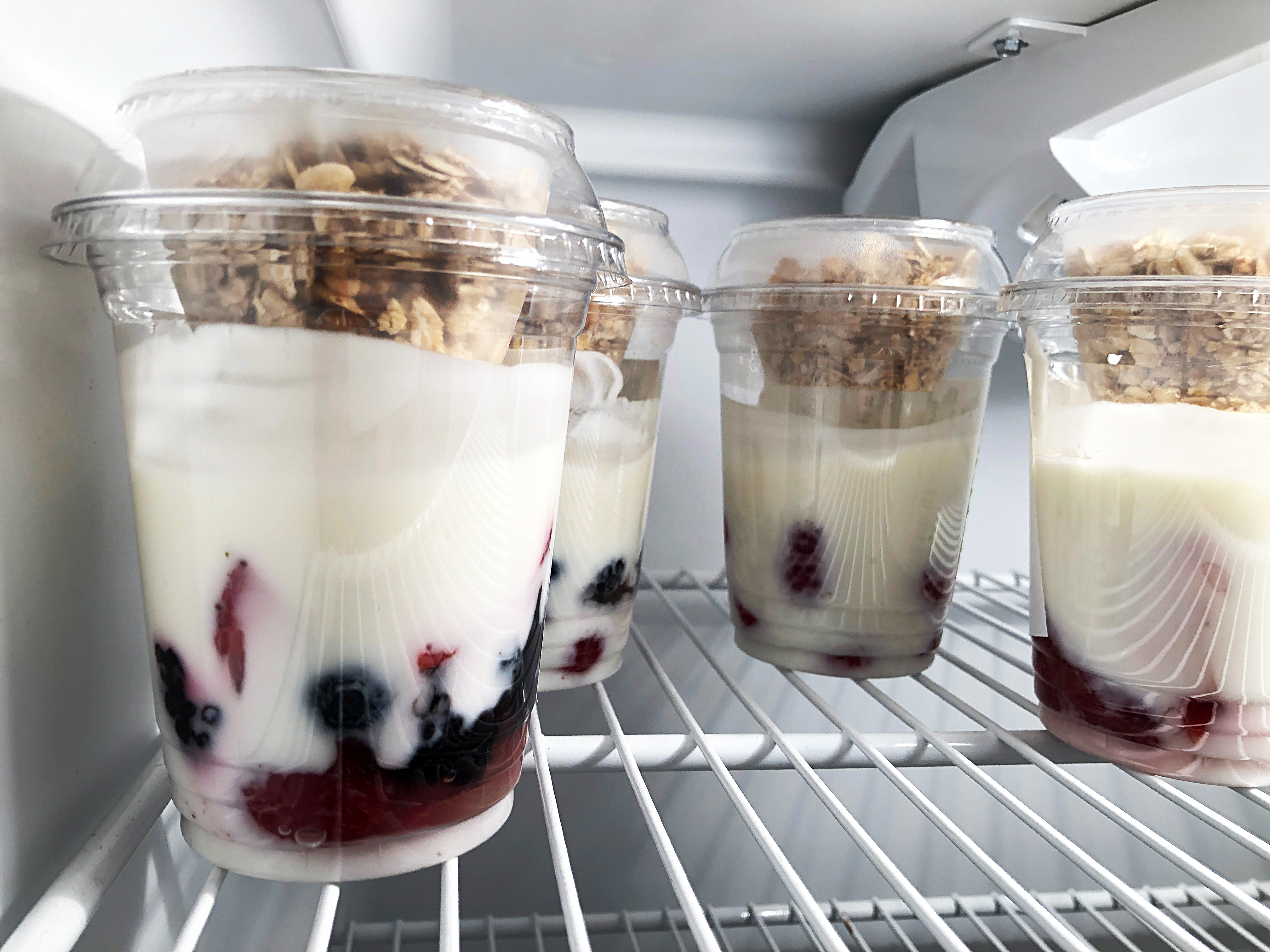 parfait in a to go package