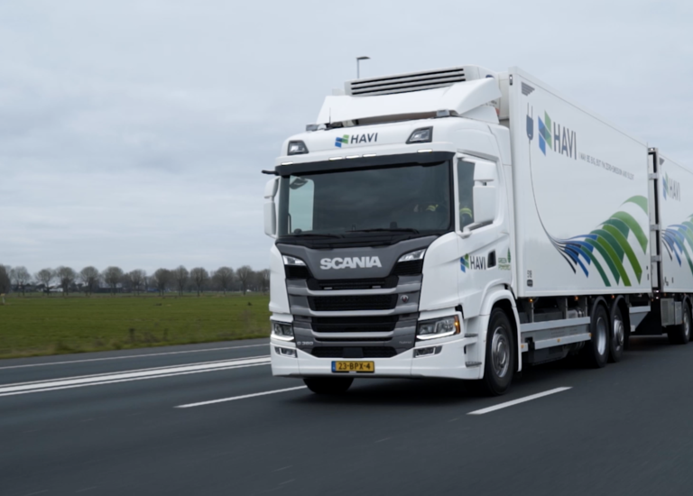 PHEV truck on the road