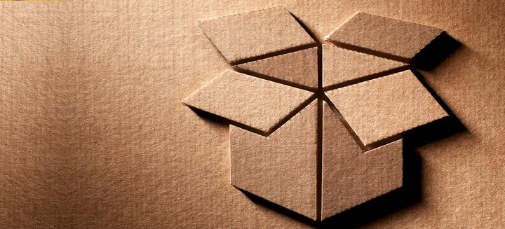 sustainable packaging concept-cardboard box icon